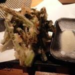 だいだらぼっち - 野沢菜の天ぷら