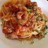 Osteria Ta-mia - 料理写真:生ベーコンのトマトスパゲティ(ランチセット)¥900