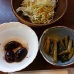 ふらい屋 杣 - 野沢菜漬け