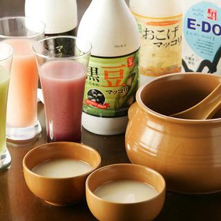 種類豊富なカラフルドリンクで韓国料理を堪能☆