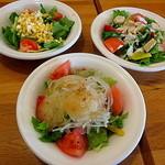 ポポラマーマ - セットのサラダは3種類から選択可能