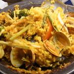 バル マル エスパーニャ - 牡蠣と白ネギのパエリア
