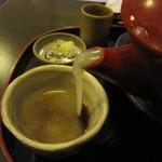 道心 - 蕎麦湯はドロドロ