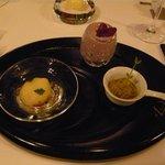 レストラン マノワ - 三種のアミューズ(2014.1)