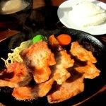 田中屋レストラン - 豚生姜焼き定食!(2014,01/19)