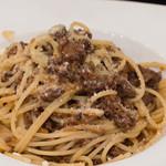 ヴェントラータ - 4)鹿・牛・豚のミートソーススパゲッティ