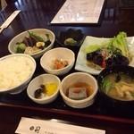 司 - 茄子と鰹のタタキ定食(お日様定食)1200円