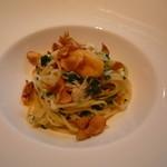 イタリアン オット - タラバ蟹と生カラスミのスパゲティーニ