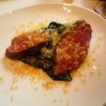 イタリアン オット - ちぢみほうれん草と鴨の温かいサラダ