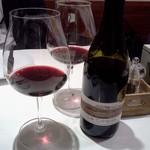サン・ヴァンサン - すぐにいきます、赤ワインボトル