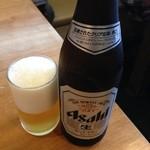 讃岐うどん はるしん - ビール中瓶