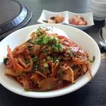 檀君 - イカと豚肉の炒めものとご飯