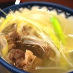 牛たん炭焼き 利久 - 海鮮丼に付属のテールスープ
