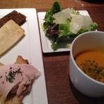 イグ・カフェ - 2014年1月サラダ・スープ付