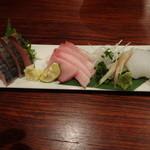 ZARUBAKU - 地魚お好きな3点盛り