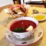 可笑的花 - 色鮮やかビーツのスープ