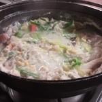 がじゅまる - 裏メニュー「豆乳味噌鍋」