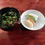 小川菊 - 吸物とお漬物