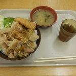 ベルウッド - 本日の丼 味噌汁付 450円 大盛