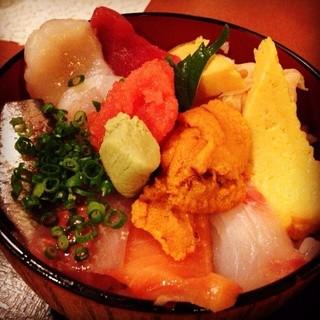 上野 寄せ家 - レインボー丼650円