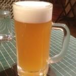 驛カフェ with ふくしまカフェ - このお店は横濱ビール醸造所に併設のカフェレストランなので、当然こうなります。ヴァイツェン旨し!