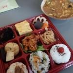 三河屋 - 九種彩り弁当¥497-&カレー汁