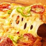 プロント - プロントのバータイム人気No.1商品! たっぷりのチーズがゼツミョ〜にとろける!   チーズた〜っぷりミックスピザ 680円