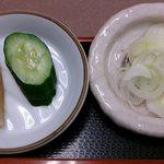 そば処きく池 - そば処 きく池 @板橋本町 美味しい漬物など