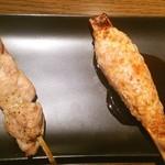 Pollo - 帯とつくね。以上が串盛り肉6本