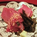 礼讃 - 昼膳:メジマグロのお刺身