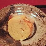 礼讃 - 昼膳:里芋天と卵焼き