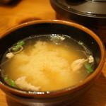 とん吉 - 豆腐のお味噌汁