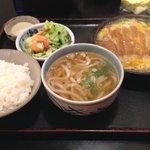 肥前屋 - 料理写真:かつ鍋定食 ¥980