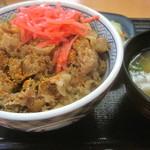 吉野家 - 牛丼(並)Bセット(みそ汁&お新香)¥280?+¥120@'13.5.下旬