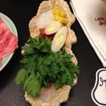 人形町今半 名古屋ミッドランドスクエア店 - 季節のすき焼(野菜)