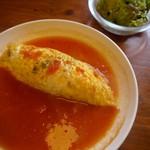 カフェ・ラ・カフェ - 料理写真:トマトスープオムライス