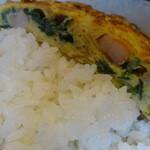 麺家 Dragon kitchen - 日替わりランチの海老玉アップ