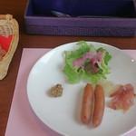 23789626 - ミラノセット(315円)の前菜、ソーセージ他