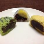 翁菓舗 - うぐいす餅・栗おふく・きみしぐれ
