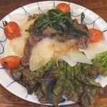 酒房 ゼンタ - 牛肉と大根サラダ