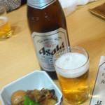 長司 - お通し&ビール ¥500