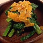 melo bar - 菜の花とミモレットのサラダ