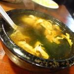 だるま家 - 玉子スープ210円