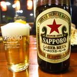 だるま家 - ビンビール500円