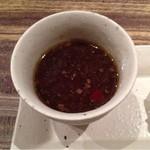 スナガ - お通しのオニオングラタンスープ