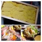 博多 弁天堂 - 板ウニ、このお値段ですから質としては普通ですけれど、、ボリュームもあり美味しいですよ。