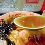らーめん馬鹿 神屋 - スープ。