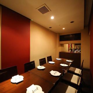 女子会や職場の飲み会に静かな個室でゆったりと♪