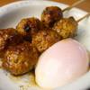 鳥庵 ばん吉 - 料理写真:<つくね温玉>絶品のつくねに店舗で仕込んだトロトロの温泉卵が絡み合い日本一うまい!雑誌にも掲載されました。