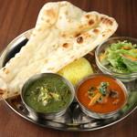 インド料理 ムンバイ - 2種類のカレーセット(ランチ:990円)